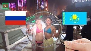 Уау! ГОЛЫЕ девушки и горячие КАЗАХИ. Крещение Астана Казахстан русский и казах прорубь купание.