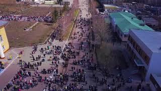 9 мая 2018. Щучинск. Бессмертный полк.