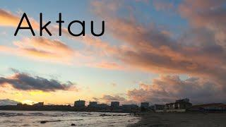 Красивый закат в Актау / Таймлапс