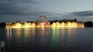 Астана Лазерное шоу на набережной реки Есиль)))