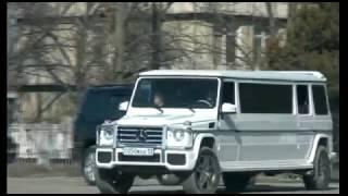 Свадебный кортеж Димаш & Акмарал. 26.02.2017.