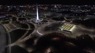 Астана Экспо 2017 ночной фонтан